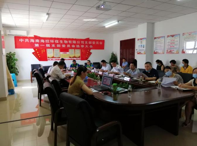 海控环保公司党支部选举产生第一届支部委员会 马江游同志全票当选支部书记