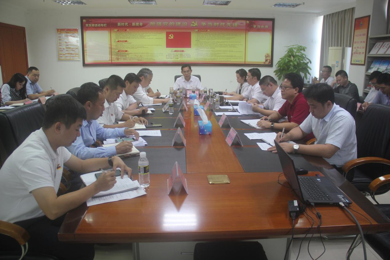 海南省水務集團召開黨委(擴大)會議傳達學習黨的十九屆四中全會精神